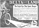 Click here to enlarge image and see more about item MC0709A4: 1924 DELTA Electric Bicycle Lamp - Light Ad