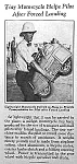 Click here to enlarge image and see more about item MC0903A4: 1936 TINY MOTORCYCLE IN PLANE Mag. Article