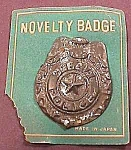 Click here to enlarge image and see more about item MC1020K: 1950's SPECIAL POLICE Tin Toy Badge/Orig Card