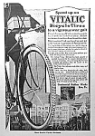 Click here to enlarge image and see more about item MC1025A1: Great 1918 VITALIC Bicycle Tires ART DECO Ad