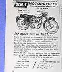 Click here to enlarge image and see more about item MC831A1: 1961 BSA MOTORCYCLE Ad
