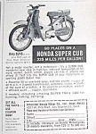 Click here to enlarge image and see more about item MC831A3: 1961 HONDA SUPER CUB Motorcycle Scooter Ad