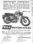 Click here to enlarge image and see more about item MC831A4: 1961 BSA MOTORCYCLE Ad B