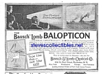 1917 BAUSCH AND LOMB Balopticon Projector Ad