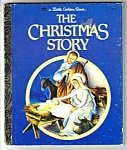 Click here to enlarge image and see more about item MCHBK031207A3: THE CHRISTMAS STORY Little Golden Book - Eloise Wilkin