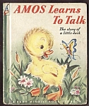 Click here to enlarge image and see more about item MCHBK091508B1: AMOS LEARNS TO TALK - Elf Book