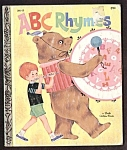 Click here to enlarge image and see more about item MCHBK091508E4: ABC RHYMES -  Little Golden Book