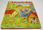 Click here to enlarge image and see more about item MCHBK1123H9: A FARM FOR ANDY Elf Book - 1951