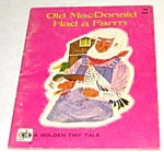 OLD MACDONALD Golden Tiny Tales Book - 1960