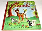 Click here to enlarge image and see more about item MCHBK1129D5: BAMBI - Disney - Little Golden Book