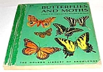 Click here to enlarge image and see more about item MCHBK1129H2: BUTTERFLIES AND MOTHS - Golden Library of Knowledge Bk