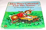 Click here to enlarge image and see more about item MCHBK1209E2: HOW PETER COTTONTAIL GOT HIS NAME Wonder Book 1957