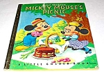 Click here to enlarge image and see more about item MCHBK1209G7: MICKEY MOUSE PICNIC Little Golden Book