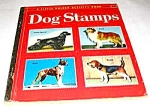 Click here to enlarge image and see more about item MCHBK1209H9: DOG STAMPS -  Little Golden Book - 1955