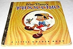 Click here to enlarge image and see more about item MCHBK1209J4: WALT DISNEY PINOCCHIO - Little Golden Book