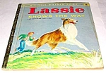 Click here to enlarge image and see more about item MCHBK1227D7: LASSIE SHOWS THE WAY - Little Golden Book - 1956