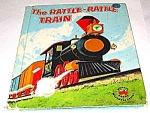 Click here to enlarge image and see more about item MCHBK1227H8: RATTLE RATTLE TRAIN Wonder Book - 1957