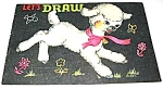 Click here to enlarge image and see more about item MCHBK1227J3: 1953 Saalfield LAMB LET'S DRAW Coloring Book
