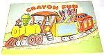 Click here to enlarge image and see more about item MCHBK1227J5: 1953 Saalfield CRAYON FUN Coloring Book