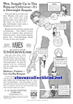 Click here to enlarge image and see more about item MCL030507F8: 1917 HANES DOLLAR MEN'S UNDERWEAR Ad
