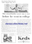 Click here to enlarge image and see more about item MCL121806A4: 1930 KEDS Sneakers RUNNER THEME Magazine Ad