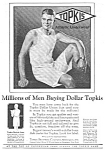 Click here to enlarge image and see more about item MCL122806D6: 1927 Topkis MEN'S UNDERWEAR Ad