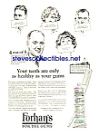 Click here to enlarge image and see more about item MDE010407B8: 1925 Forhans for the Gums DENTAL PYORRHEA Cure Ad