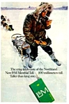 1967 SLED DOG Theme L&M CIGARETTE Ad
