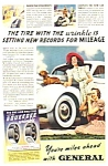 1939 General Tire DACHSHUND DOG Image Magazine Ad