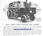 1912 FIRST ELECTRIC FIRE ENGINE NYC Mag. Article