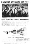 Click here to enlarge image and see more about item MFI050406D5: 1946 Fred Arbogast HAWAIIAN WIGGLER FISHING LURE Ad
