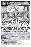 1924 MISSION STYLE Hartman Furniture Ad