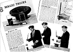 1962 MAGIC TRICKS Magazine Article