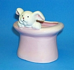 Click here to enlarge image and see more about item MG1110A1-2006: RABBIT IN THE HAT Magic Theme Pottery Planter