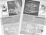 Click here to enlarge image and see more about item MHI032806D3: 1949 TO BUILD LUCITE PLASTIC PROJECTS Magazine Article