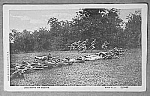 Click here to enlarge image and see more about item MI0715B6: ADVANCING BY SQUADS Military WWI? Postcard