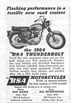 Click here to enlarge image and see more about item MMC032206B9: 1964 BSA MOTORCYCLE Ad