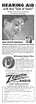 Click here to enlarge image and see more about item MME030107A4: 1944 Zenith Radio HEARING AID Ad