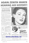 Click here to enlarge image and see more about item MMED121806A8: 1944 Zenith HEARING AID Ad
