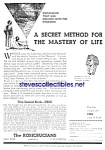 Click here to enlarge image and see more about item MMG030107A3: 1937 ROSICRUCIANS  metaphysics-MYSTICISM Ad