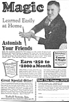 Click here to enlarge image and see more about item MMG122806D2: 1927 LEARN MAGIC - Tarbell Systems Ad L@@K!