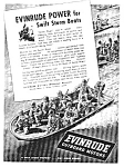 Click here to enlarge image and see more about item MMI0504-6C7: 1943 WWII EVINRUDE BOAT MOTOR Mag. Ad - Military