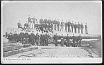 Click here to enlarge image and see more about item MMI112706G1: Early Military Showing 16 in. LARGEST GUN Postcard