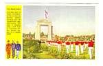 Click here to enlarge image and see more about item MMI112796D7: WWII Military PEACE ARCH, BLAINE, WASHINGTON Postcard