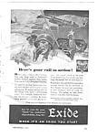 1943 WWII EXIDE BATTERIES Mag. Ad - Military Theme