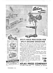 Click here to enlarge image and see more about item MMIL040306C1: 1943 WWII ATLAS DRILL PRESS Mag. Ad - Military Theme
