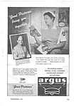 Click here to enlarge image and see more about item MMIL040306C4: 1943 Nurse Wartime Theme ARGUS  CAMERA Ad