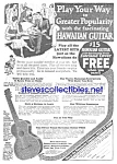 1926 HAWAIIAN GUITAR Music Room Ad