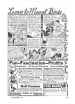 Click here to enlarge image and see more about item MOCC040306D9: 1943 LEARN TAXIDERMY at Home Mag. Ad