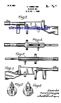 Click here to enlarge image and see more about item MPAT041408A5: Patent Art: 1940s Toy Machine Gun (Tommy Gun)